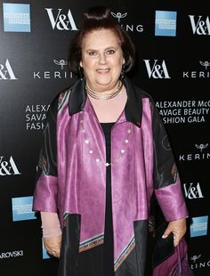 Suzy Menkes at the Opening Night Gala of Alexander McQueen, Savage Beauty