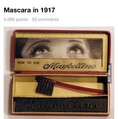 Amazing....the mascara was in 'cake' form...they rubbed the taut brush through the cake, dipped the brush in some water & wa la....!!