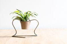 Support pour petite plante, à poser sur une table ou à accrocher au mur, selon vos envies
