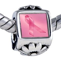 Pugster Bead Breast Cancer Awareness Pink Ribbon Beads Fits Pandora Bracelet Pugster. $12.49. Bracelet sold separately. Unthreaded European story bracelet design. It's the photo on the flower charm. Fit Pandora, Biagi, and Chamilia Charm Bead Bracelets. Hole size is approximately 4.8 to 5mm