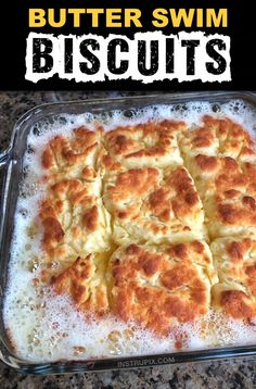 Biscuits Swimming In Butter? Now, THIS is some serious comfort food! I could eat one of these buttery biscuits every day for breakfast, lunch and dinner, and be perfectly content for the rest of Butter Biscuits Recipe, Homemade Biscuits Recipe, Easy Biscuit Recipe, Bisquick Recipes, Homemade Butter, Recipes With Biscuit Dough, Southern Homemade Biscuits, Grand Biscuit Recipes, Quick Biscuits