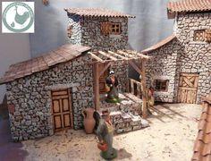 Christmas Nativity, Christmas Diy, Medieval Houses, Doll Home, Doll Furniture, Diy Table, Model Homes, Living Room Chairs, Diy Doll