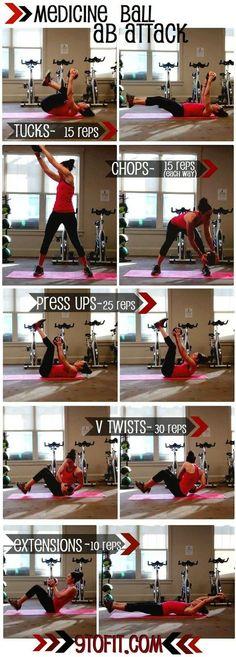 Medicine ball Ab workout.