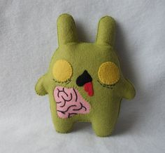 30 OFF SALE Zombie Chubby Bunny Plush by by michellecoffee on Etsy, $15.00