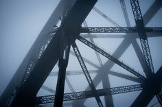 """""""Fog"""" by Halans (via Flickr Blog). I love that the foggy girders in the background look like shadows cast upon a wall."""