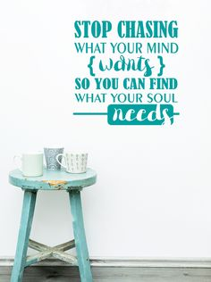 What your Soul Needs Inspirational Saying Quote Vinyl Wall Decals - Wall Decor Plus More