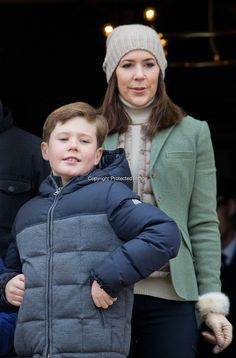 Crown Prince famliy of Denmark attend the Hubertus Hunt. Crown Prince Frederik, Crown Princess Mary, Prince Christian, Princess Isabella, Prince Vincent and Princess Josephine 11/1/2015