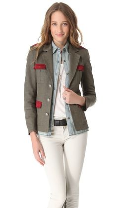 LAVEER Field Jacket. Love a new take on Military.