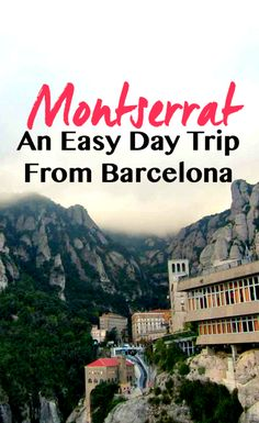 Planning a trip to Barcelona or looking for ideas for Spain? Here is a visual travel inspiration post about this stunning city of Montserrat. Oh The Places You'll Go, Places To Travel, Travel Destinations, Travel Tips, Travel Ideas, Gaudi, Disney Worlds, Madrid, Montserrat Barcelona