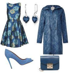3cb93ccf87f8 Monocromatico  azzurro cielo  outfit donna Bon Ton per serata fuori
