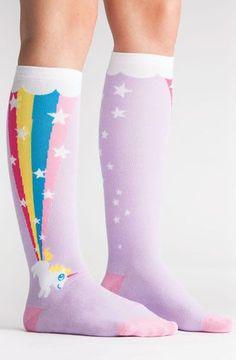 """alt='""""rainbow-blast-unicorn-knee-high-socks"""""""