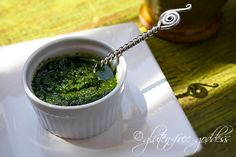 Vegan pesto with basil, mint and parsley - summer fresh. Use on pasta, bruschetta, egg dishes, GF pizza shells, potato salad, sandwiches, broiled fish and chicken.