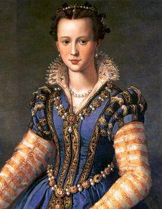 Eleonora di Don Garzia di Toledo di Pietro de' Medici by Italian Painter Alessandro Allori 1535-1607 http://en.wikipedia.org/wiki/Eleonora_di_Garzia_di_Toledo