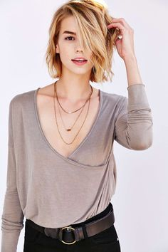 Truly Madly Deeply Cassidy Surplice Top - Urban Outfitters