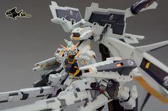 Custom Build: 1/144 RX-121-1+FF-X29A Gundam TR-1 (Hazel-Rah) Second Form with Booster Equipment - Gundam Kits Collection News and Reviews