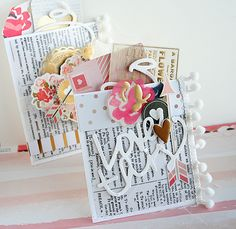 #Valentine Pockets by Danielle Flanders for Gossamer Blue #cards #valentinesday