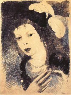 Edgar Degas. Portrait de Marie Laurencin