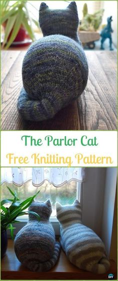 Baby Knitting Patterns Amigurumi The Parlor Cat Softies Toy Free Knitting Pattern – Knit Cat Toy Softies Patterns Chat Crochet, Crochet Cat Toys, Knitted Cat, Knitted Animals, Knit Or Crochet, Crochet Baby, Loom Knit, Clay Animals, Free Crochet