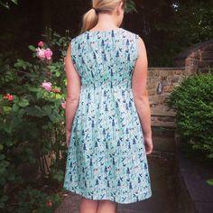 Washi dress in Tokyo Train Ride fabric by Sarah Watts - the back