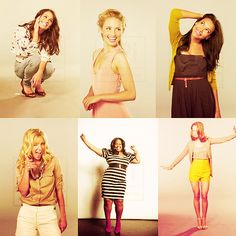 Rachel Berry(Lea Michele) Quinn Fabray(Dianna Agron) Santana Lopez(Naya Rivera) Brittany S. Pierce(Heather Morris) Mercedes Jones(Amber Riley) Emma Pillsbury(Jayma Mays) Pretty People, Beautiful People, Beautiful Women, Jayma Mays, Amber Riley, Quinn Fabray, Heather Morris, Glee Club, Rachel Berry