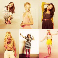 Rachel Berry(Lea Meshele) Quinn Fabray(Dianna Argon) Santana Lopez(Naya Rivera) Brittany S. Pierce(Heather Morris) Mercedes Jones(Amber Riley) Emma Pillsbury(Jayma Mays) <3 <3 I LOVE THE GLEE GIRLS!