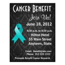cancer benefit flyer fundraiser flyer cancer ribbon event flyer