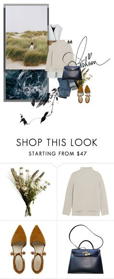"""postcard from far away"" by dear-inge ❤ liked on Polyvore featuring Abigail Ahern, Theory, Hermès and Marni"