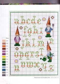 Gallery.ru / Фото #41 - ABC Fantaisis - Mongia   Gnome alphabet sampler