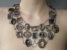 Gorgeous family tree photo necklace