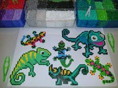 Our lizard & chameleon peeler bead creations!