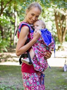 NANA WEAR x Maraya baby carrier pink-mandala – NANA wear Vera Bradley Backpack, Mandala, Pink, Baby, How To Wear, Collection, Baby Humor, Pink Hair