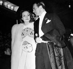 Marlene Dietrich and Douglas Fairbanks jr. at the premiere of Snow White and the Seven Dwarfs, December 21, 1937.