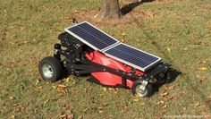 Remote controlled solar powered lawn mower!
