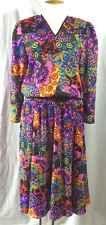 Vintage Diane Freis Beaded Boho Festival Georgette Dress. Pristine.