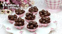 Metrolu Coco Pops  Topları Tarifi Quick Dessert Recipes, Easy Cake Recipes, Snack Recipes, Snacks, Recipe For 4, Food Cakes, Mini Cupcakes, Muffin, Food And Drink