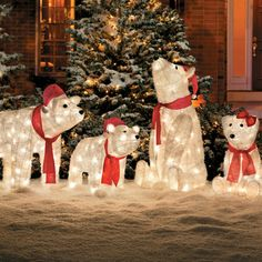 their frosty furry look makes these lighted outdoor polar bears especially appealing winter wonderland christmas winter wonderland decorationsunique - Winter Wonderland Outdoor Christmas Decorations