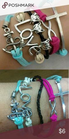 CLEARANCE | Love Anchor Infinity Bracelet New, see second picture for actual colors :) Jewelry Bracelets