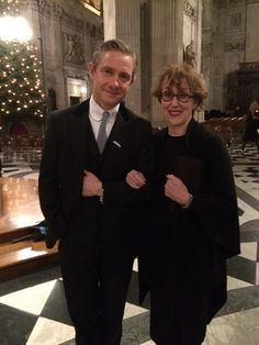 A delight to see a couple of residents of 221b Baker Street here at the cathedral this evening!