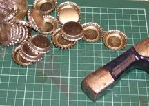 HOW TO FLATTEN BOTTLE CAPS