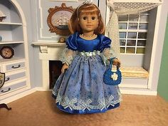 ROYAL-BLUE-VICTORIAN-DRESS-ACCESSORIES-FOR-18-AMERICAN-GIRL-SAMANTHA-NELLIE