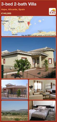 3-bed 2-bath Villa in Aspe, Alicante, Spain ►€140,000 #PropertyForSaleInSpain