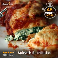 """Spinach Enchiladas 