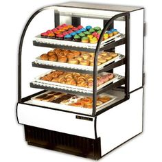 Curved Glass Non-Refrigerated Dry Bakery Case, 32 Inch