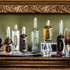 The Variance Spirit Decanter Collection. Great for a home bar, bar cart and/or cocktail enthusiast. Can be personalized for a great gift for him, father's day, grads, housewarming, or weddings.