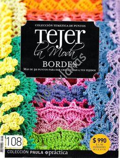 Revista de Tejer la moda donde aprenderáscomo hacer bordes en crochet.