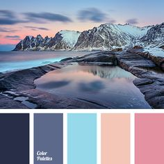 aubergine, Blue Color Palettes, bright blue, dark purple, dark-blue, light purple, Orange Color Palettes, peach