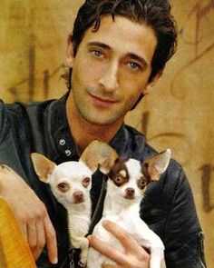 """Adrien Brody & Ceelo & Lolly   """"They have reminded me about what's most important to me,"""" the King Kong star, 33, said of his two Chihuahuas. """"They give me a sense of centeredness I crave. Especially after winning the Academy Award [for 2002's The Pianist], the world's perception of me has really changed. But no matter what, your pets will never judge you."""""""
