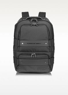 €489.00 | Technical material meets luxe to create a sophisticated, top-of-the-line backpack/convertible trolley complete with a multipurpose front pocket and a bottom zippered compartment features a padded laptop pocket. The backpack straps can be hidden as well as the trolley handle for easy access. Coated with Teflon.