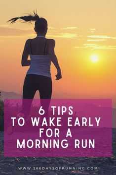 6 tips to wake up early for a morning run | rise and shine with the sun | exercise in the morning | become a morning runner with these 6 tips  #running #wakeupearly #sunrise Running Routine, Running Plan, Running Workouts, Running Tips, Women's Fitness, Group Fitness, Fitness Goals, Running Training Programs, Race Training