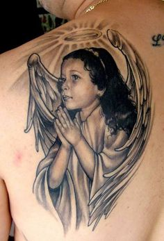 Angel tattoo meanings, designs and ideas with great images for 2016. Learn about the story of angel tats and symbolism.